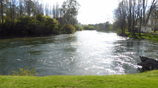 Tumut, أستراليا: This is the Riverfront. The river is full with the Spring thaw (Sept 2017)