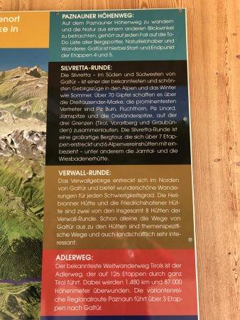 Alpinarium Galtür: Hinweistafel 1
