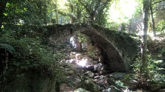 Tsagkarada, Greece: Tsagarada old stone bridge from 1728