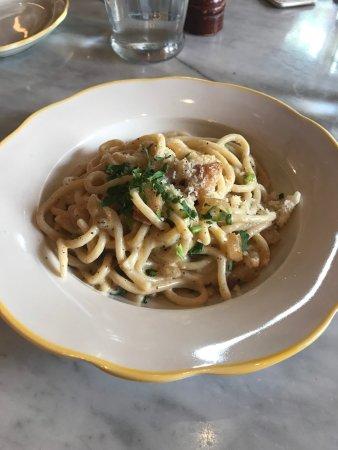 Nizza : Spaghetti alla Carbonara (fresh pasta)