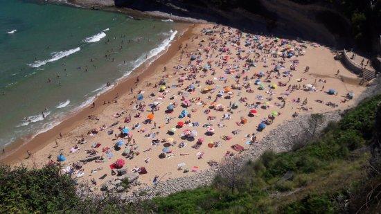 Playa de Mataleñas: Plajın yukarıdan görünümü
