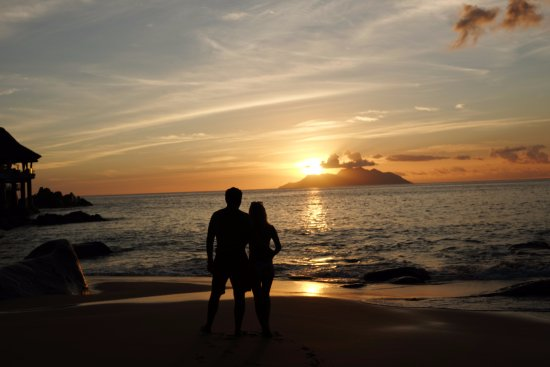 Love At Sunset Beach Picture Of Sunset Beach Mahe Island