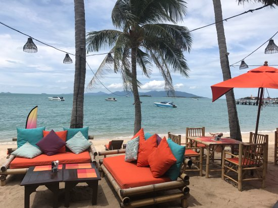 Secret Garden Beach Resort: View from eating area