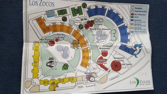 Los Zocos Club Resort: Map of resort