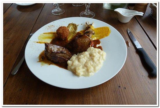 Saint Andre des Eaux, Francia: Magret de canard