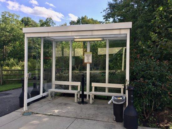 White Marsh, MD: Smokers' shelter.