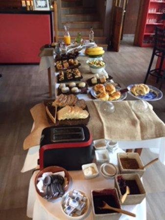 Las Bayas Hotel : Exquisito desayuno