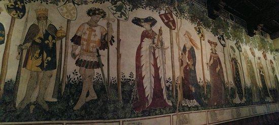 Castello della Manta: La serie dei Nove Prodi e delle Nove Eroine