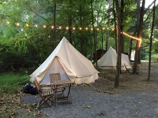 Shawnee on Delaware, Pensilvania: Our glamp site