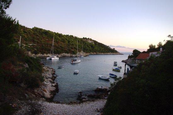 Solta Island, Croatia: пляж рядом