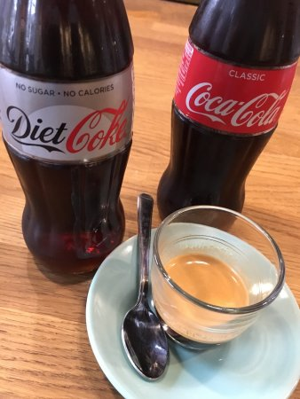 Walton-On-Thames, UK: Coke and espresso for a real kick!
