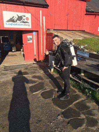 Ballstad, Norway: Diving preparations....