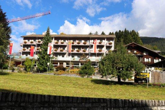 Parkhotel Schoenegg : Hotel from Dorfstrasse, main street in town