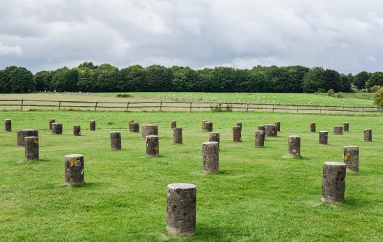 Durrington, UK: Woodhenge in Amesbury - not far from Stonehenge