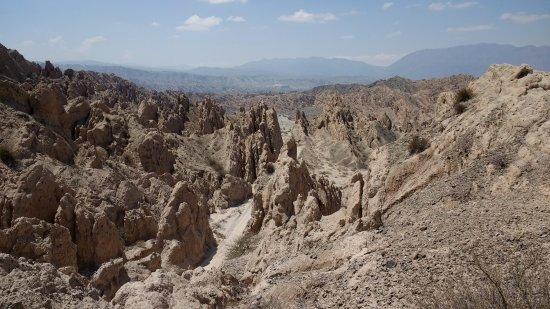 Quebrada de Las Flechas - Angastaco: Vista panorámica de la quebrada de las flechas cerca de Angastaco. Notable!!