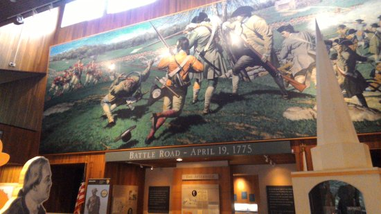 Minute Man National Historical Park: mural in visitor center