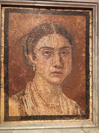 Beautiful portrait in mosaic