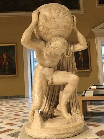 Atlas lifting the World
