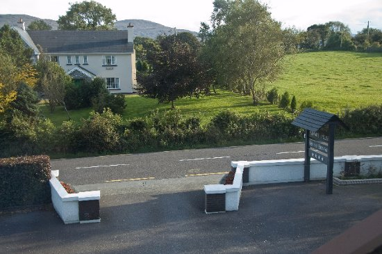 Entrance to Kenmare House, view from our room.