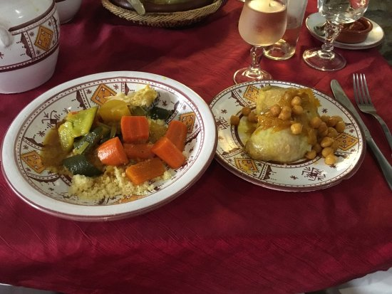 Le Riad : Couscous and vegetables.
