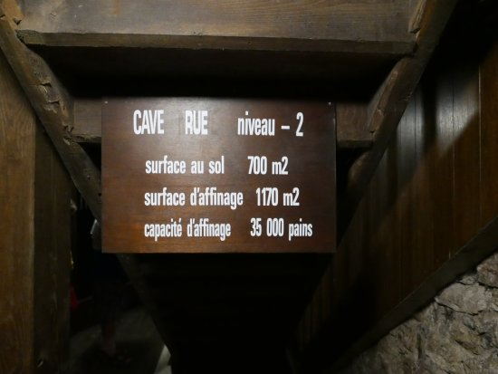 Roquefort, França: Cave level information
