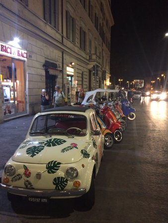 """Hotel Solis: Opposite across the road """"BICI & BACI""""Make sure you hire their mini cars, moped and electric bik"""