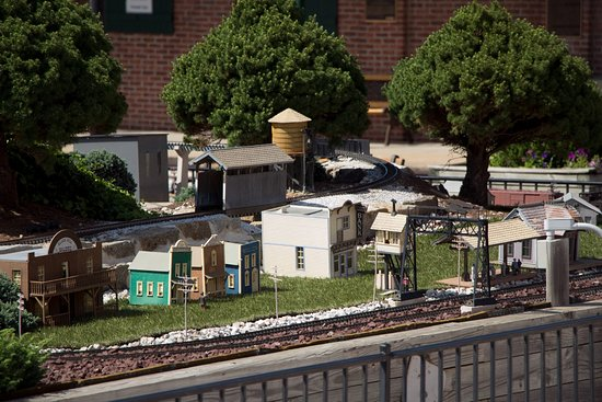Part of the miniature railroad exhibit outside the main