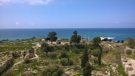 The Crusader Castle: view from castle