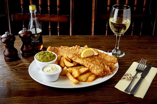 Eccles, UK: Our Large Beer-Battered FIsh and Chips