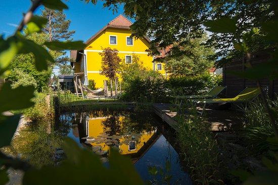 Faulenzerhotel Schweighofer: Faulenzergarten mit Biotop