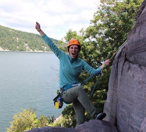 Baraboo, WI: Nothing gets you more hyped that getting to the top of the purple quartzite bluffs of Devil's La