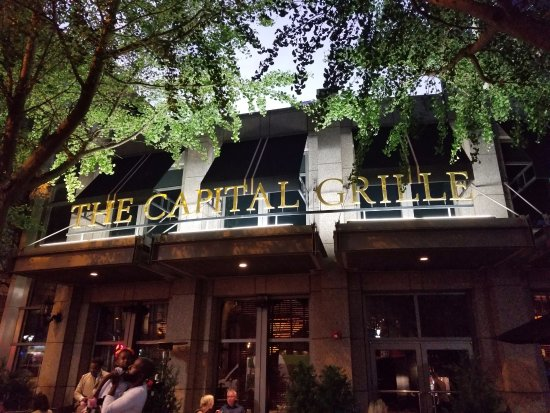 The Capital Grille: Looking at the front of the restaurant.