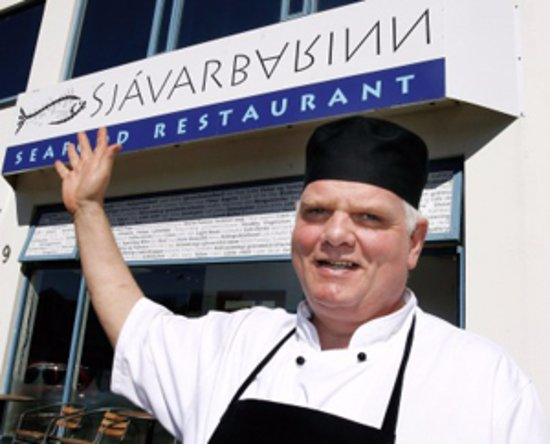 WELCOME TO SJÁVARBARINN – By the Old harbour opposite the Maritime musem.