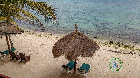 Del Sol Beachfront Hotel: Playa que esta en el hotel