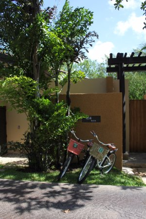 Banyan Tree Mayakoba: Each villa includes two bikes to use to meander the property if you wish to use them.