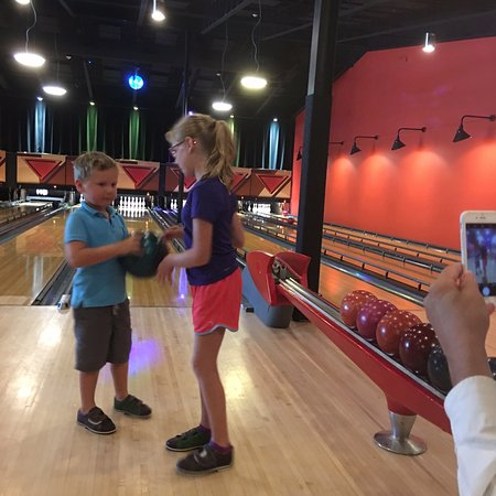 Trumansburg, NY: kids love to bowl.