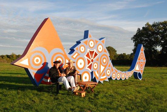 Sculpture Park Engelbrecht : Le dragon couchée (avec Erich et Waltraud)