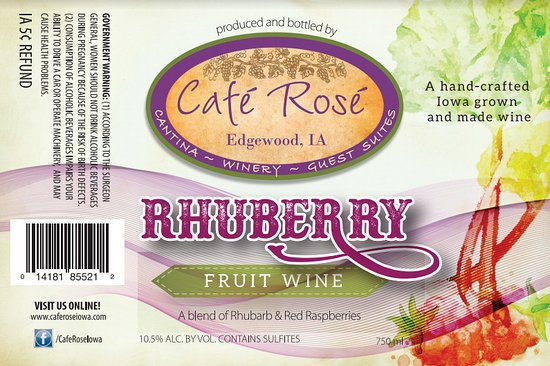 Edgewood, IA: Rhuberry wine