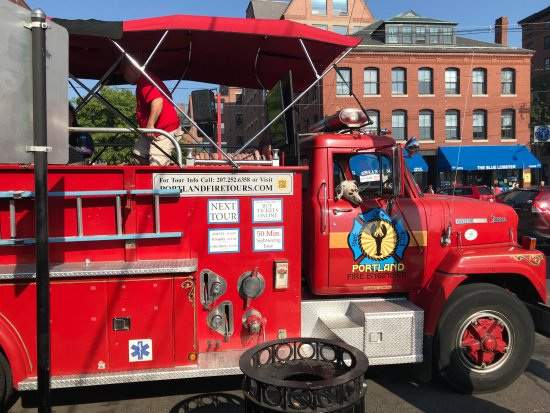 Portland Fire Engine Co: From the side.