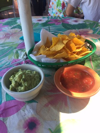 Sugar Loaf, NY: Chips, salsa and quacomole