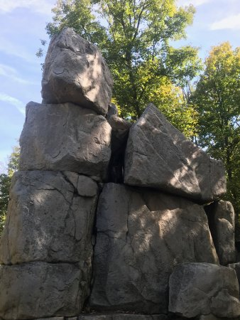 Wausau, WI: Top of the park rock formation.