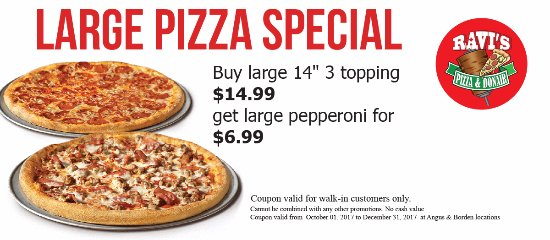 Angus, Canadá: 2 Large Pizza Special- Double's Deal
