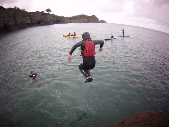 Combe Martin, UK: New for 2018... Kayak-steering a mix of kayaking & coasteering