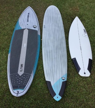 Kilauea, HI: Riviera and Channel Islands Surfboards