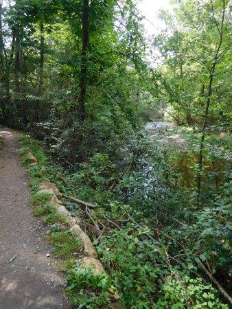 Fayetteville, Pensilvania: Alongside creek on the Ramble Trail.