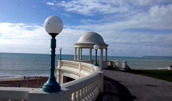 Bexhill-on-Sea, UK: the terrace outside