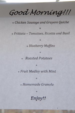 Harbour Towne Inn on the Waterfront: Breakfast menu