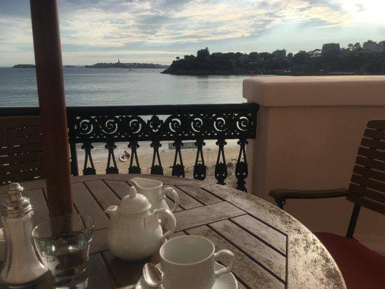 Hôtel Villa Reine Hortense : Vue de la terrasse