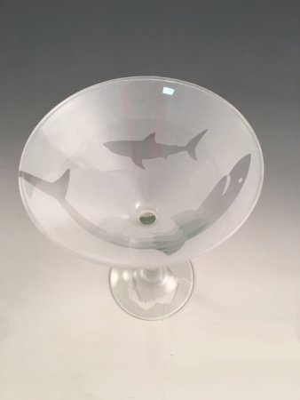 Chatham, MA: Great White Shark Martini Glass