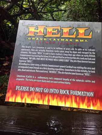 Hell Grand Cayman Cayman Islands Visiting Hell With